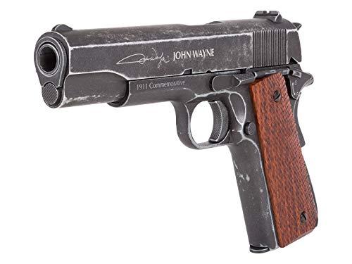 John Wayne 1911 Metal CO2 BB Pistol, Brown Grips air Pistol