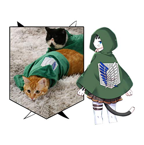 Pet Costume Cat Dog Cosplay Attack on Titan Anime Cartoon Plush Cloak Scouting Legion Freedom Cloak Cape Pet Costumes