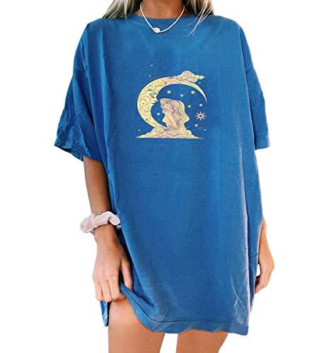 Tomwell T-Shirt Damen V Ausschnitt Kurzarm Langarm Sommer Casual Farbblock T Shirt Top Bluse Oberteil B Dunkelblau 01 M