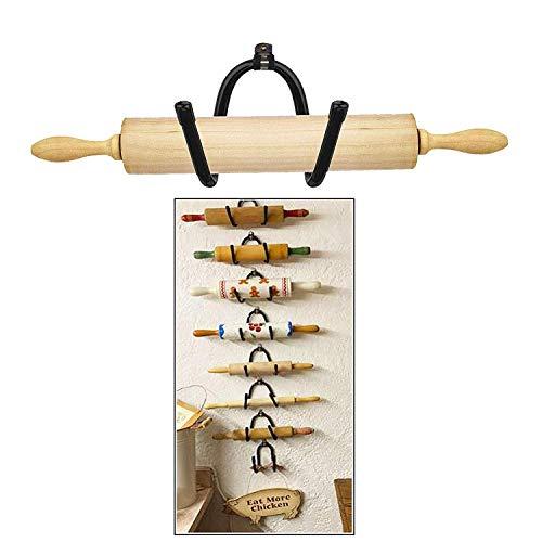 Soporte para rodillo de rodillo de almacenamiento – el estante es ajustable para adaptarse a tus diferentes tamaños, decoración de pared colonial decorativa.