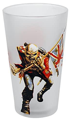 Iron Maiden Trooper Unisex Boccale birra bianco vetro