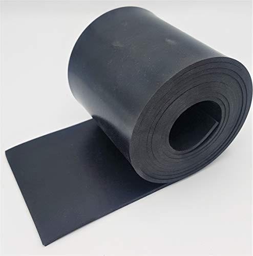 Gummistreifen 100mm (10cm) breit - DICKE und LÄNGE wählen - 100mm x 4000mm x 6mm (10cm x 400cm x 0.6cm) - DICKE: 1mm bis 15mm - LÄNGE: 5cm bis 10m   NR/SBR   Gummileiste Gummizuschnitt