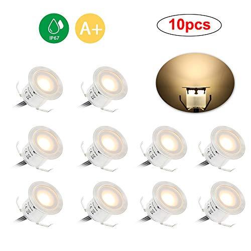 Docooler LED Einbaustrahler,Einbauleuchten,10 Stück LED Deckenspots,Badestrahler, 6W 500LM Deckenstrahler/IP67 Wasserdicht (Warmweiß 2800-3200K),10 Stück