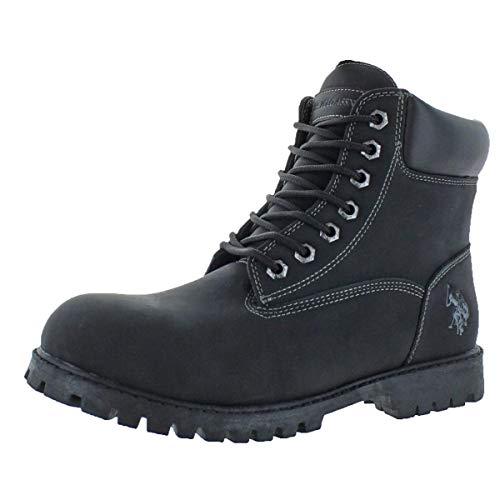 U.S. Polo Assn. Owen High Men's Faux Nubuck Ankle Boots Black Size 13