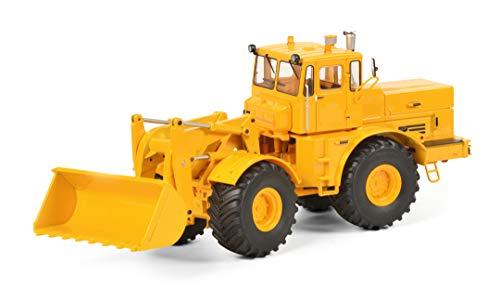 Schuco 450770900 Kirovets K-700 M, Traktor mit Frontschaufel, Modellauto, 1:32, gelb Modellfahrzeug