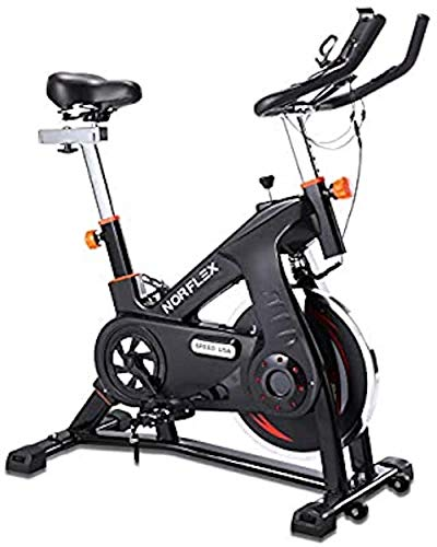 Scenic Spin Bike Flywheel Commercial Gym Exercise Home Workout Bike Fitness Commercial, Fully Adjustable, LCD Screen, Pulse Monitor