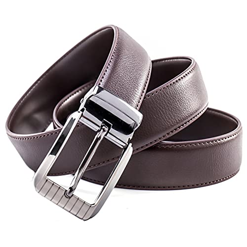 HengFeiYanShiPin Cinturón De Hombre Personalizado Regalo Cinturón De Hombre Personalizado Con Nombre Cinturón De Cuero Grabado Regalo Personalizado(Marrón Oscuro M 115 Cm)