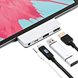 サンワダイレクト USB-Cハブ 4in1 【60W PD出力】 4K HDMI USB-A(USB3.0)ポート 3.5mmジャック アルミ グレー 400-HUBIP087