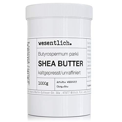 Sheabutter kaltgepresst und unraffiniert 1000g - 100% reine Pflege oder perfekte Basis für hochwertige Pflegeprodukte von wesentlich.