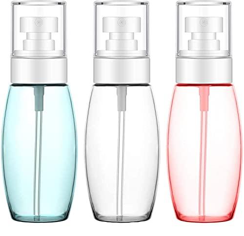 Monnstar Distribuerad flaska, läckagesäker bärbar påfyllningsbar resebehållare för rengöringslösning, kosmetika, lockigt hår