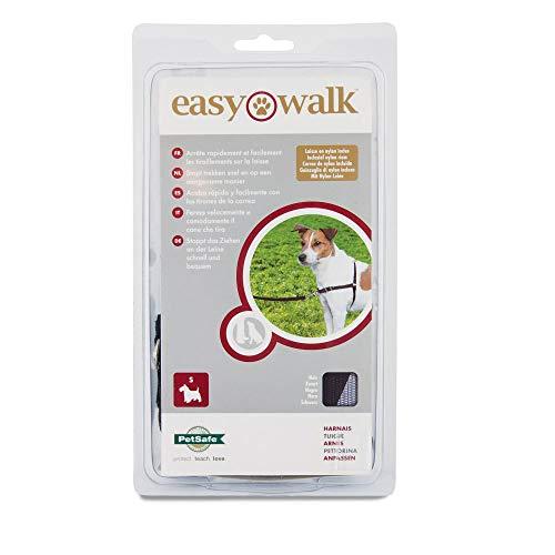 PetSafe - Harnais pour Petit Chien Easy Walk (S) - Harnais Ajustable et Anti-Traction - 4 Points de Réglage pour Un Confort Maximal - Noir