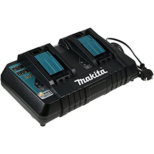 Cargador Doble Makita Modelo DC18RD para Baterías de tipo Block 9,6V-14,4V NiMH / 14,4V-18V Li-Ion Original