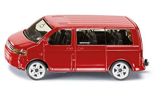 siku 1070, VW Multivan, Metall/Kunststoff, Rot, Öffenbare Heckklappe, Anhängerkupplung