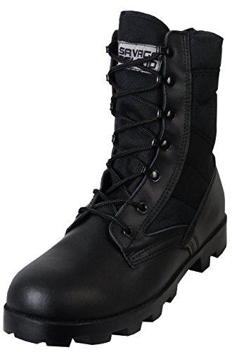 Savage Island Army Combat Jungle Boots,Black,8 UK