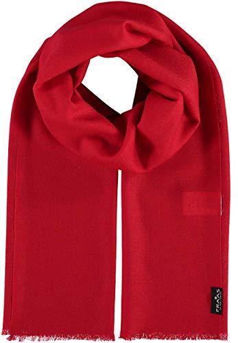 FRAAS Woll-Schal für Damen & Herren - Maße 50 x 180 cm - Damen Schal in vielen verschiedenen Farben - Perfekt für Frühling & Sommer Rot