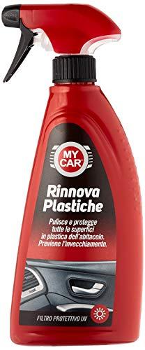 My Car, Rinnova Plastiche, Lucida, Rinnova e Deterge Plastica e Gomma, Ideale per Interni, Fascioni e Guarnizioni, 375 ml
