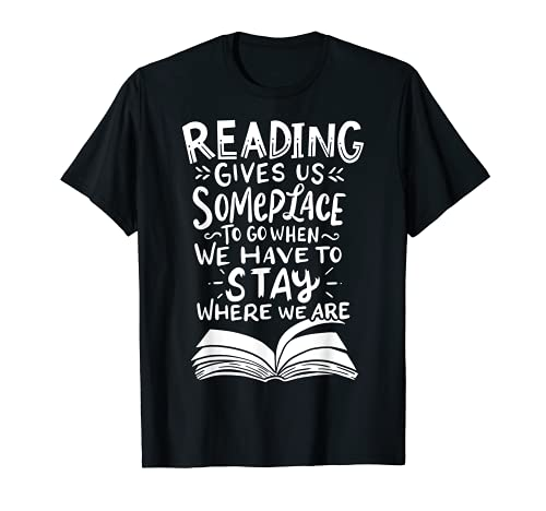 Reading Reader Book Lover Literature Library Month Gift T-Shirt