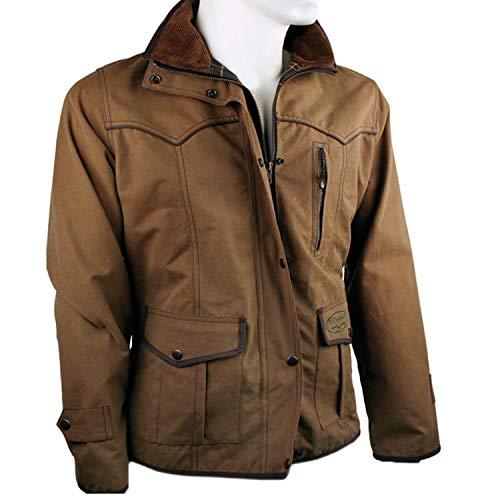 Fratelli ditalia Damen-Jagdjacke aus gewachster Baumwolle, Outdoorjacke für Damen, Regenjacke S beige