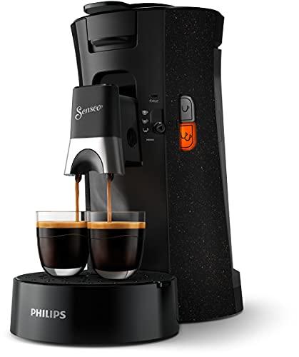 Philips Senseo Select ECO CSA240/20 - Cafetera de monodosis (selección de intensidad, función de memoria, plástico reciclado), color negro