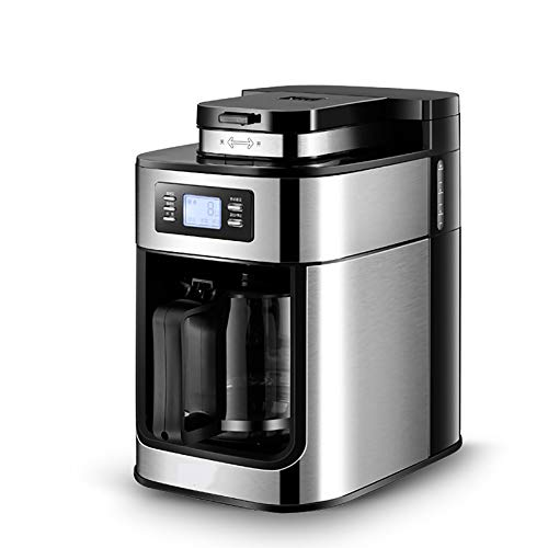 Máquina de café Completamente automática Molinillo Tipo de Goteo Hogar Pequeños Granos de Pulido Harina de Soja Pantalla LED Enchufe de EE. UU.