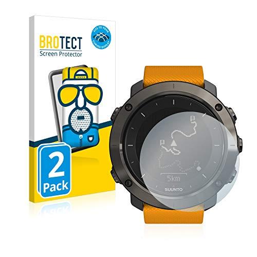 BROTECT Protector Pantalla Completa Mate Compatible con Suunto Traverse/Traverse Alpha (2 Unidades) 3D Curvo Película Protectora