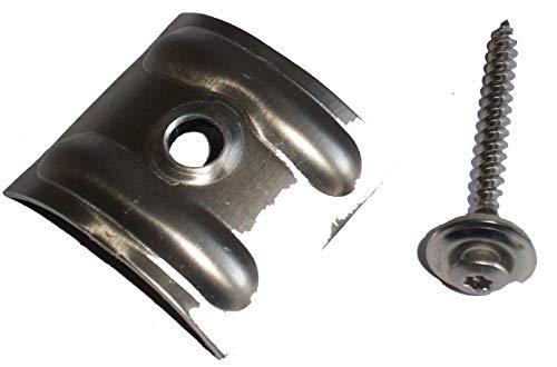 100 Kalotten 18 76 für Sinus Profil Wellplatten mit Spenglerschrauben V2A 4,5 x 55 mm Dichtscheiben 15 mm