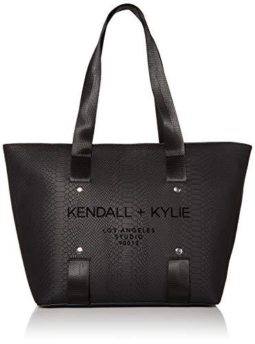 Kendall + Kylie Damen Valerie Tragetasche, Schwarz/Schlange, Einheitsgröße