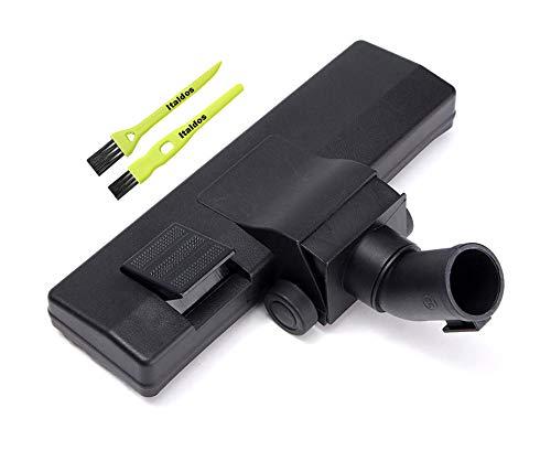 Cepillo universal de 32 mm para aspiradora Electrolux Rowenta Miele Dirt Devil Boquilla con ruedas para moqueta, azulejos