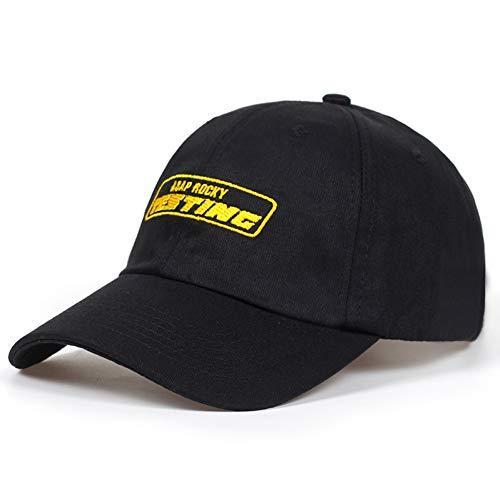 Baseballmütze Cap Neues Album ASAP Rocky Testing Stickerei Baseball Cap Frauen Snapback Hat Verstellbare Kappe Männer Mode Papa Hüte Großhandel
