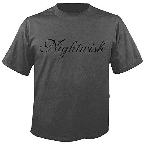 Nightwish - Logo - Charcoal - T-Shirt Größe L