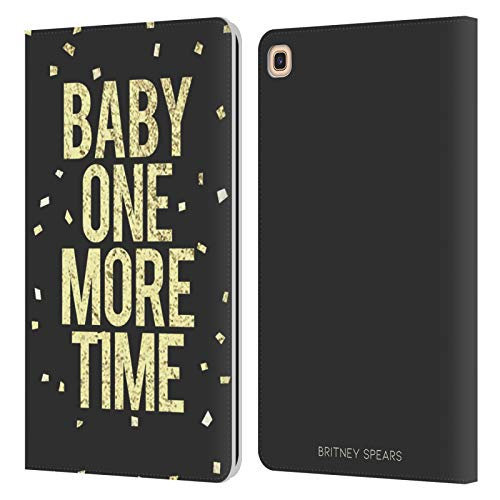 Head Case Designs Offizielle Britney Spears Baby One More Time Songs Leder Brieftaschen Huelle kompatibel mit Galaxy Tab A 8.0 & S Pen 2019