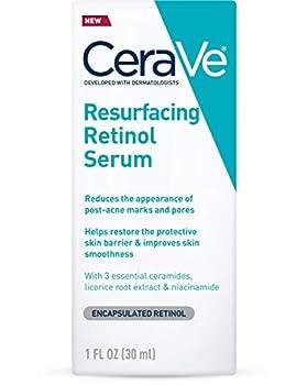 CeraVe Retinol Serum for Post-Acne Marks and Skin Texture | Pore Refining Resurfacing Brightening Facial Serum with Retinol | 1 Oz