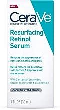 CeraVe Retinol Serum for Post-Acne Marks and Skin Texture   Pore Refining, Resurfacing, Brightening Facial Serum with Retinol   1 Oz