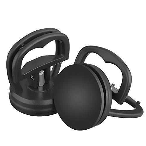 Ventosas de alta resistencia, 2 piezas de ventosa de pantalla, herramienta de reparación de iPhone Mac para computadora, herramienta de extracción de apertura de desmontaje (2,16 pulgadas, negro)