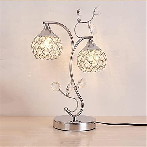 Lámpara de mesa minimalista moderna cuello cisne cuello de doble cabeza luz de cristal europeo diseño simple DIRIGIÓ Dormitorio de escritorio Sala de estar Estudio de noche E27 para sala de oficina in