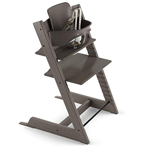 Tripp Trapp by Stokke Adjustable Hazy Grey Baby High Chair (Includes Baby Set)