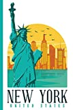 Cityscape - New York United States - Statue of Liberty Ellis Island : College Ruled Notebook [Idioma Inglés]