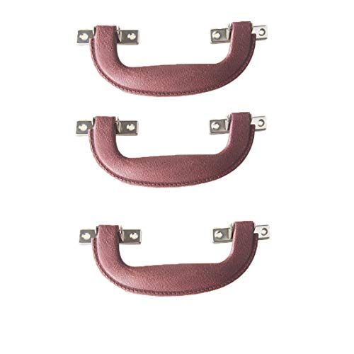 Antrader Plastic Luggage Trunk Pull Handle Suitcase Side Holder, Brown, Pack of 3