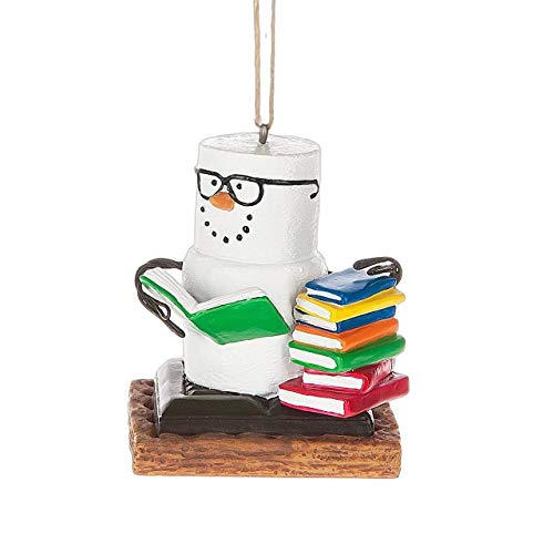 Midwest-CBK S'Mores Book Lovers Book Nerd Christmas/Everyday Ornament Decoration