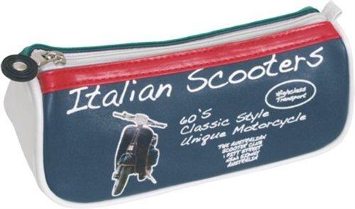 Madelcar - Funda diseño de bandera de Italia patinete Vespa, 21 cm