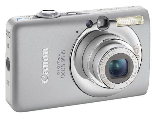 Canon Digital IXUS 95 IS Digitalkamera (10 MP, 3-fach opt. Zoom, 6,4cm (2,5 Zoll) Bildschirm, Bildstabilisator) silber