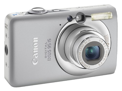Canon Digital IXUS 95 IS Digitalkamera (10 MP, 3-fach opt. Zoom, 6,4cm (2,5 Zoll) Display, Bildstabilisator) silber