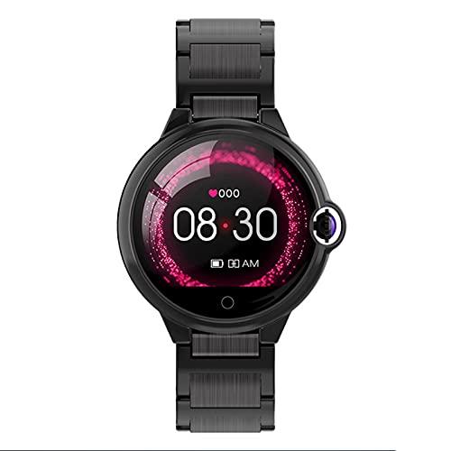 Pulsera inteligente de detección de frecuencia cardíaca, pantalla táctil de 1,22 pulgadas, recordatorio anti-perdida, reloj multifunción deportivo con pantalla a color, lP67 a prueba de agua,Negro