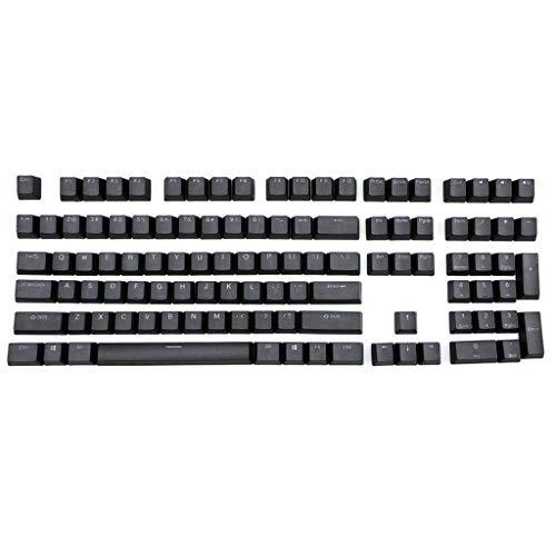 juqingshanghang1 108 PBT Backlit Keycaps für K70 K65 K95 RGB-Tastatur-Keycaps (Color : Black)