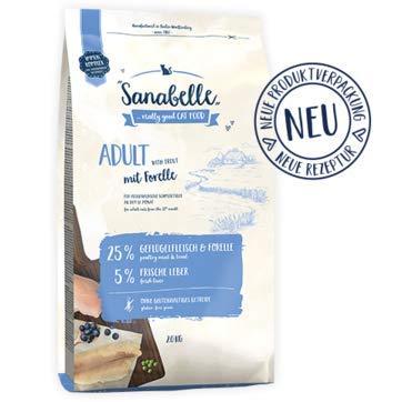 2 x 10 = 20 kg Sanabelle Adult Truite particulièrement adapté pour gamelle chat