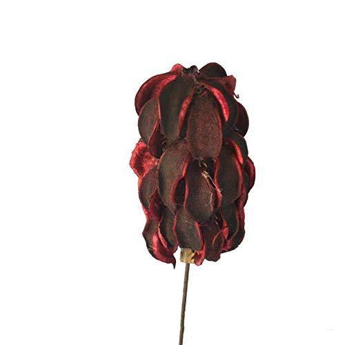 ZYC-WF Flor Seca Roja Liyu Material de Flor Natural Hecho a Mano Suave DecoracióN Artesanal Boutique en Casa Centro Comercial Tiro Escena de Regalo Creativo Agregue Sabor ArtíStico