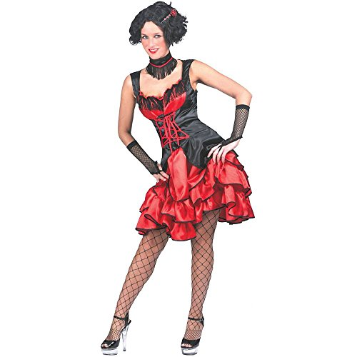 Can Can Lady Saloon Dame Kleid mit Halsschmuck 36/38 502040
