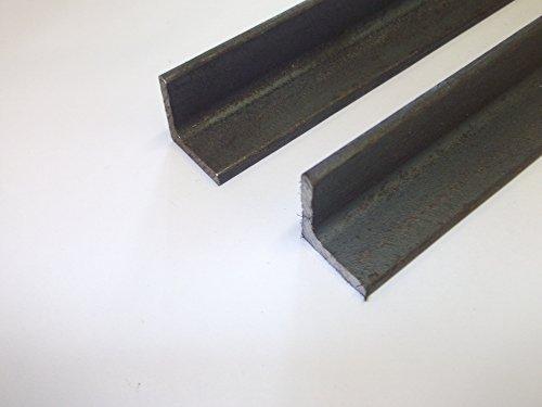 2 estructuras de soldadura de hierro negro de ángulo de 3 mm, 250 mm de largo, 40 mm x 40 mm.