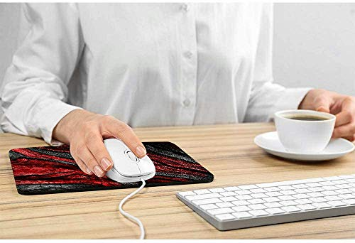 Mouse pad,Red Gray Marble Pattern Waterproof Anime Gaming Gift Mouse Pad Desk Accessories Non-Slip Rubber Mousepad for Laptop Wireless Mouse Photo #2