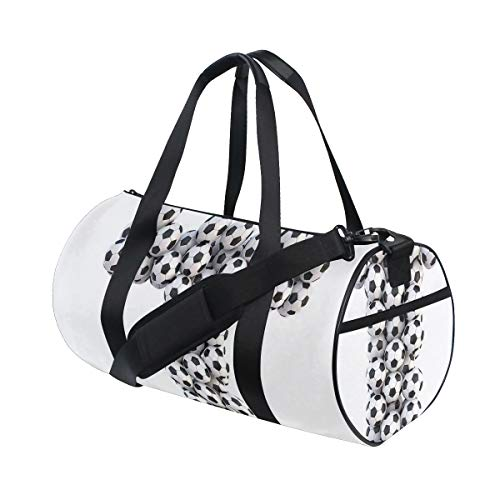 HARXISE Bolsa de Viaje,Horizontal Vertical Balón de fútbol Diseño Competencia Tema Arreglo del Alfabeto,Bolsa de Deporte con Compartimento para Sports Gym Bag